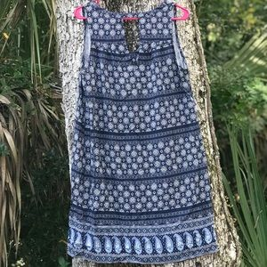 Blue Paisley Pattern Dress